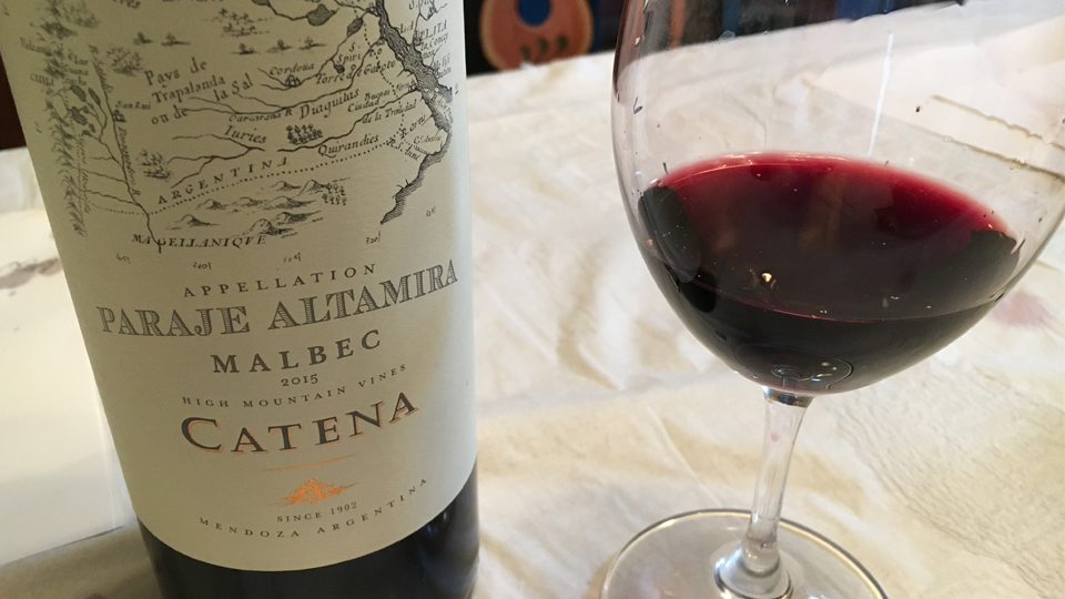 2015 Bodega Catena Zapata Malbec Appellation Paraje Altamira ($25.00) 91