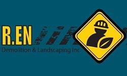 Website for R. EN Demolition & Landscaping Inc.