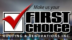 Website for First Choice Roofing & Renovations Inc.