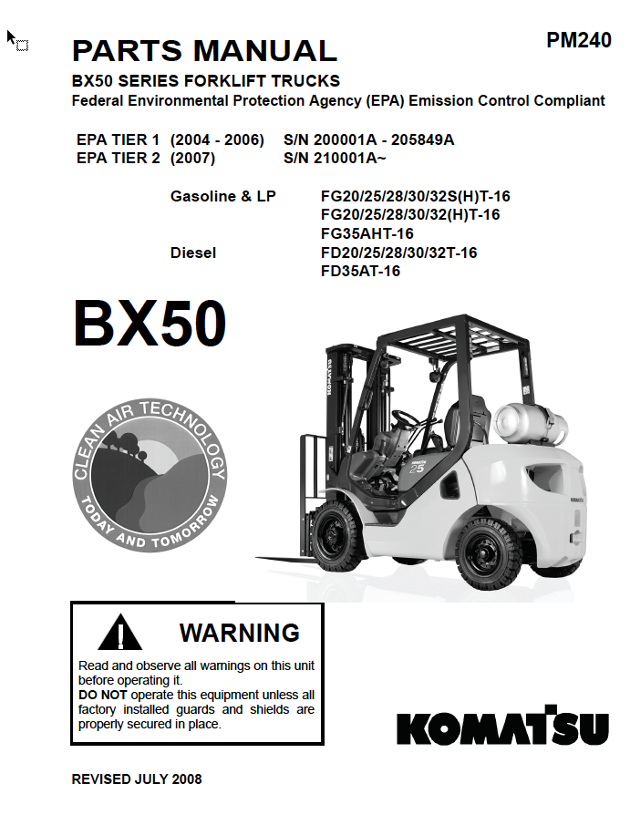 toyota forklift parts manual pdf