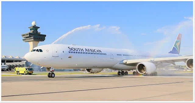 SAA celebrates inaugural flight from Washington D.C. to Accra, Ghana