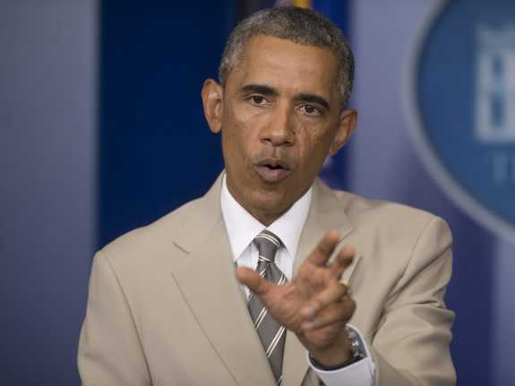 President Obama said Thursday at the White House that the U.S. doesn't yet have a strategy on how to deal with the Islamic State militant group.