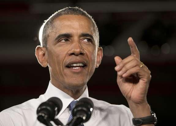 President Obama speaking in Michigan.