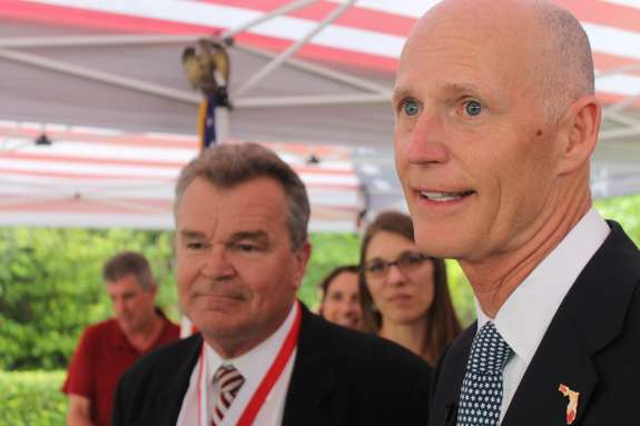 Gov. Rick Scott wants to create a counter terrorism task force at the Florida Department of Law Enforcement.  (Abe Aboraya, WMFE)