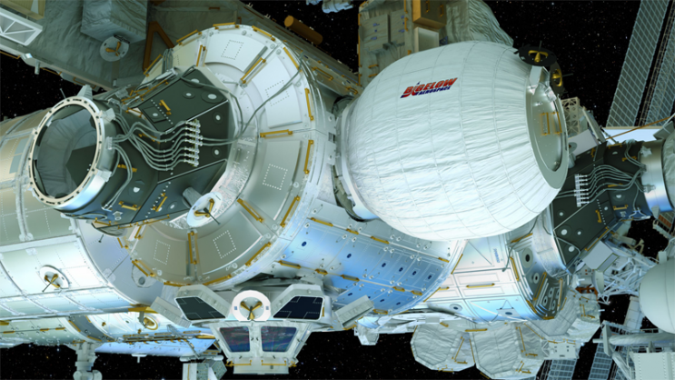 Renderings of the BEAM, an inflateable habitat, expanded on the International Space Station. Photo: Bigelow Aerospace