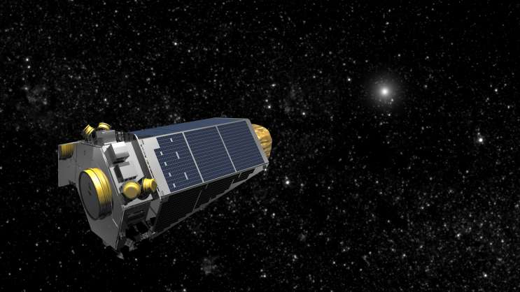 Rendering of Kepler at work in deep space. Photo: NASA