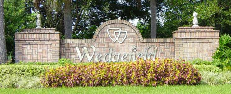 Entrance to Wedgefield. Photo: Wedgefield Homeowner's Association.