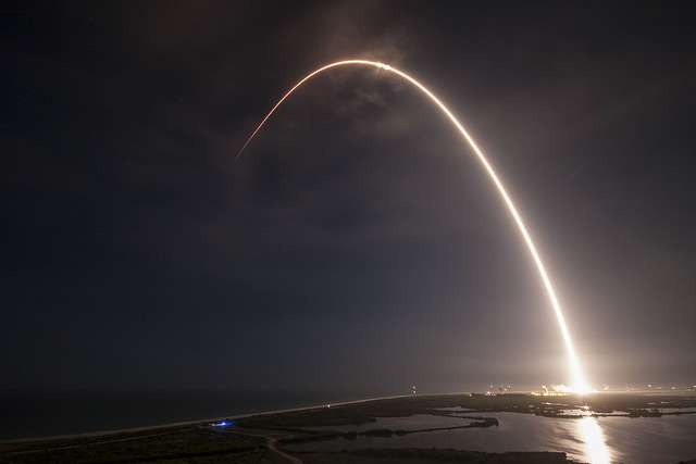 SpaceX launches a Japanese communcation satellite from Cape Canaveral. Photo: SpaceX