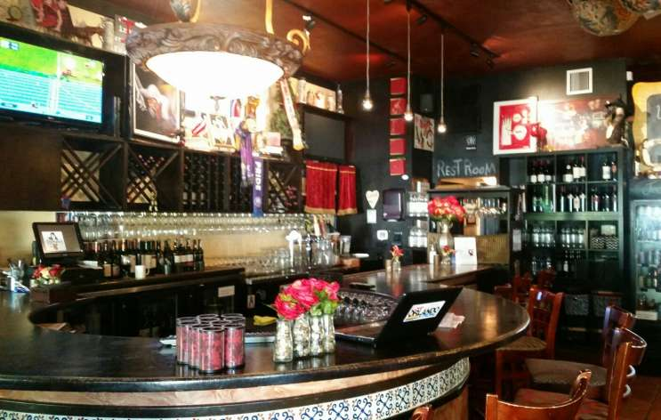 The bar at Maxine's. Photo by Crystal Chavez.