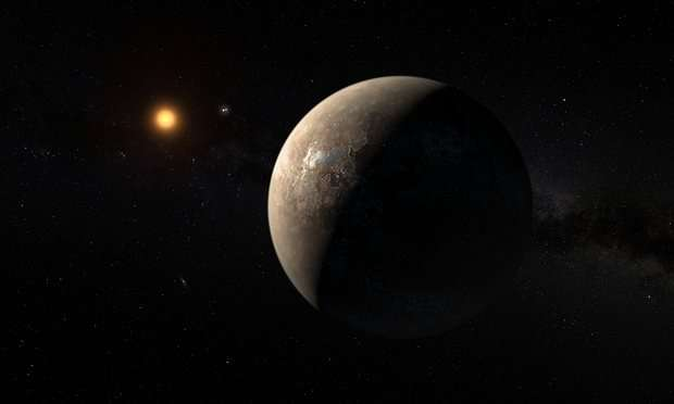 An artist's impression of the planet Proxima b. Photo: ESO