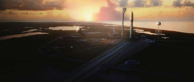 Elon Musk says the space ship that will take humans to Mars launches from Cape Canaveral's Launch Complex 39-A. Photo: SpaceX