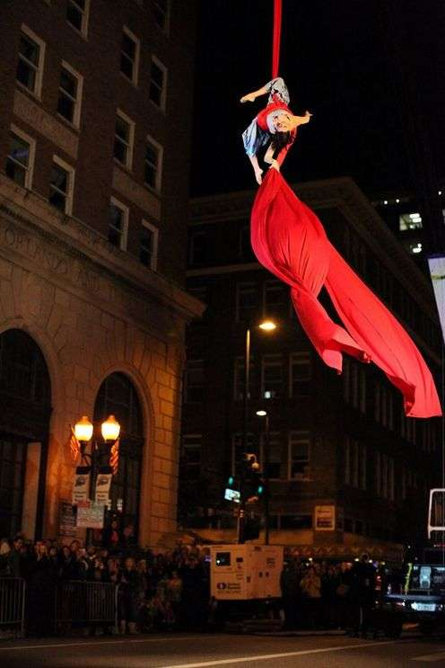 Image: Aerialist at previous Creative City Project, from events facebook page.