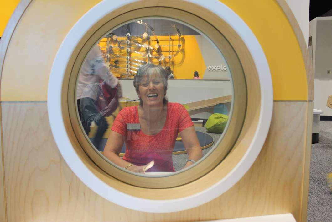 JoAnn Newman at the Orlando Science Center's new Kids Town exhibit. Photo: Matthew Peddie. WMFE