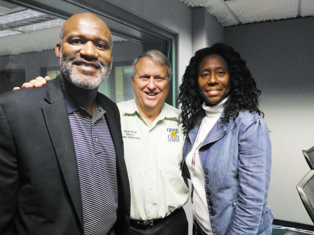 Randy Nelson, Bryan Nelson and Krystal Alexander. Photo: Matthew Peddie, WMFE