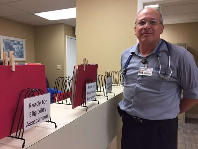 Ed Fluker started a free clinic for patients who have breathing issues but don't have insurance.