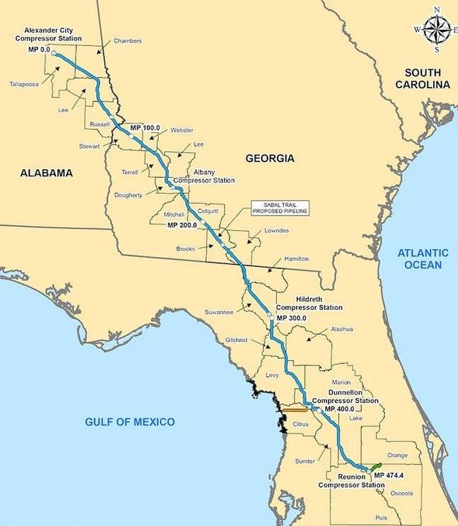 Image: Map of Sabal Trail Pipeline Route, orlandoweekly.com
