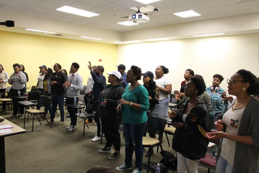UCF Gospel and Cultural Choir. Photo: Matthew Peddie / WMFE
