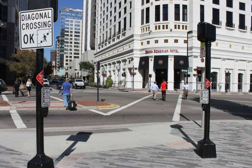 Improving pedestrian safety is top of the list for Orlando's new transportation director Billy Hattaway. Photo: Matthew Peddie. WMFE
