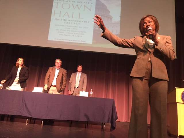 Democratic Congresswoman Val Demings held a town hall in Orlando Sunday.