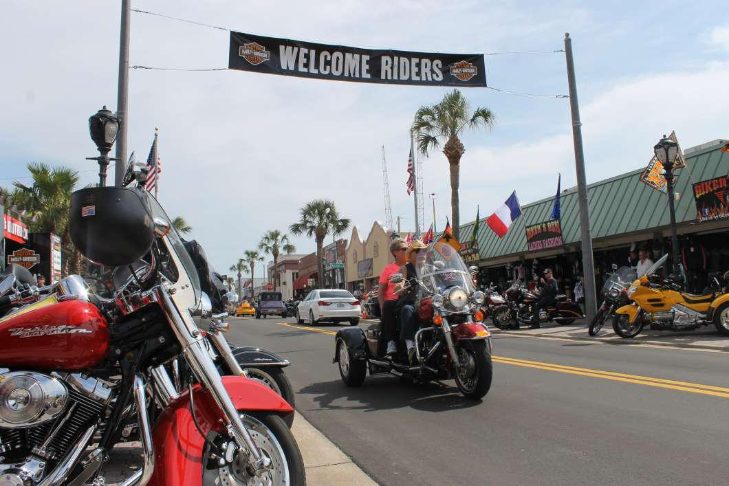 Daytona Beach's Main Street is the epicenter of Bike Week. Photo: Matthew Peddie, WMFE