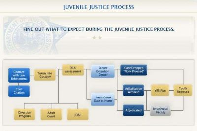There are several paths a kid can take once entering the juvenile justice system. Photo: Florida Department of Juvenile Justice (screenshot).