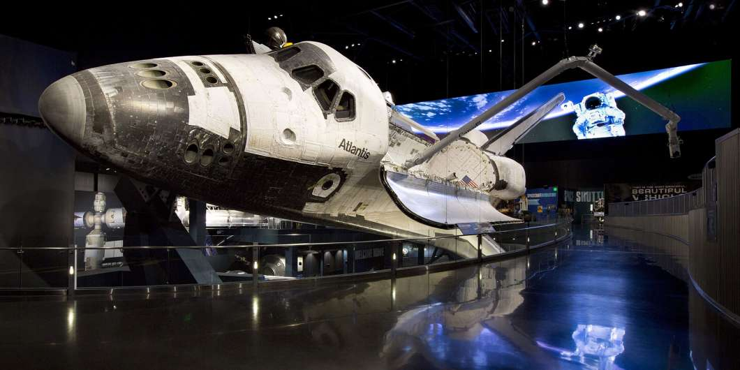 Space Shuttle Atlantis on display at the Kennedy Space Center: Photo: KSC Visitor Complex