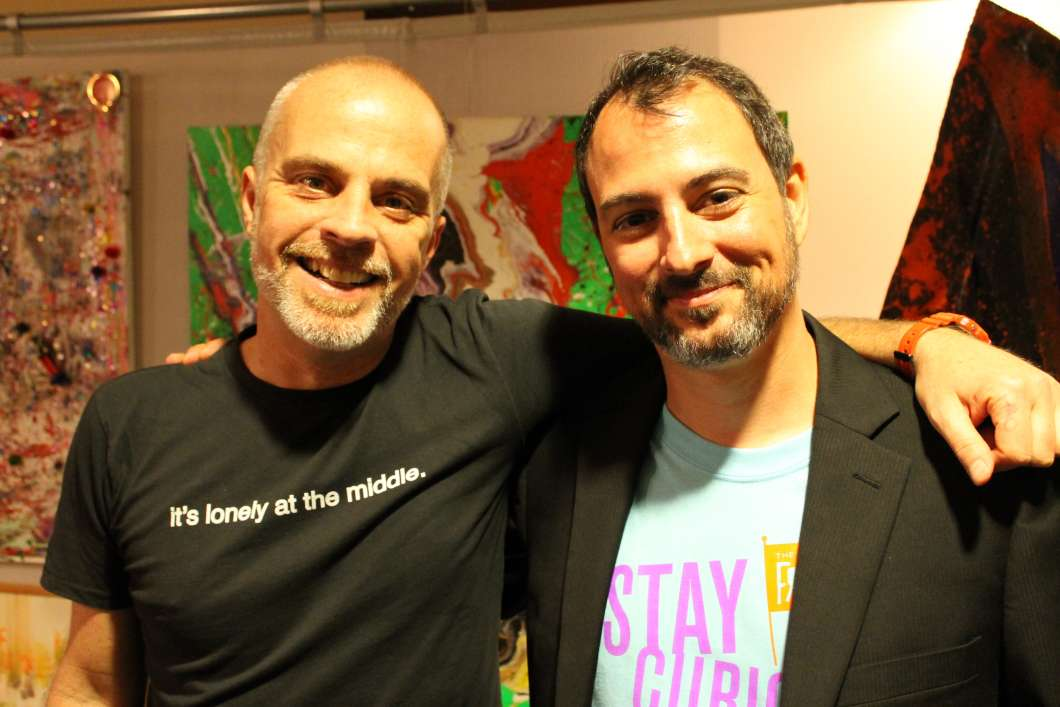 Peter Michael Marino and Mike Marinaccio. Photo: Matthew Peddie, WMFE