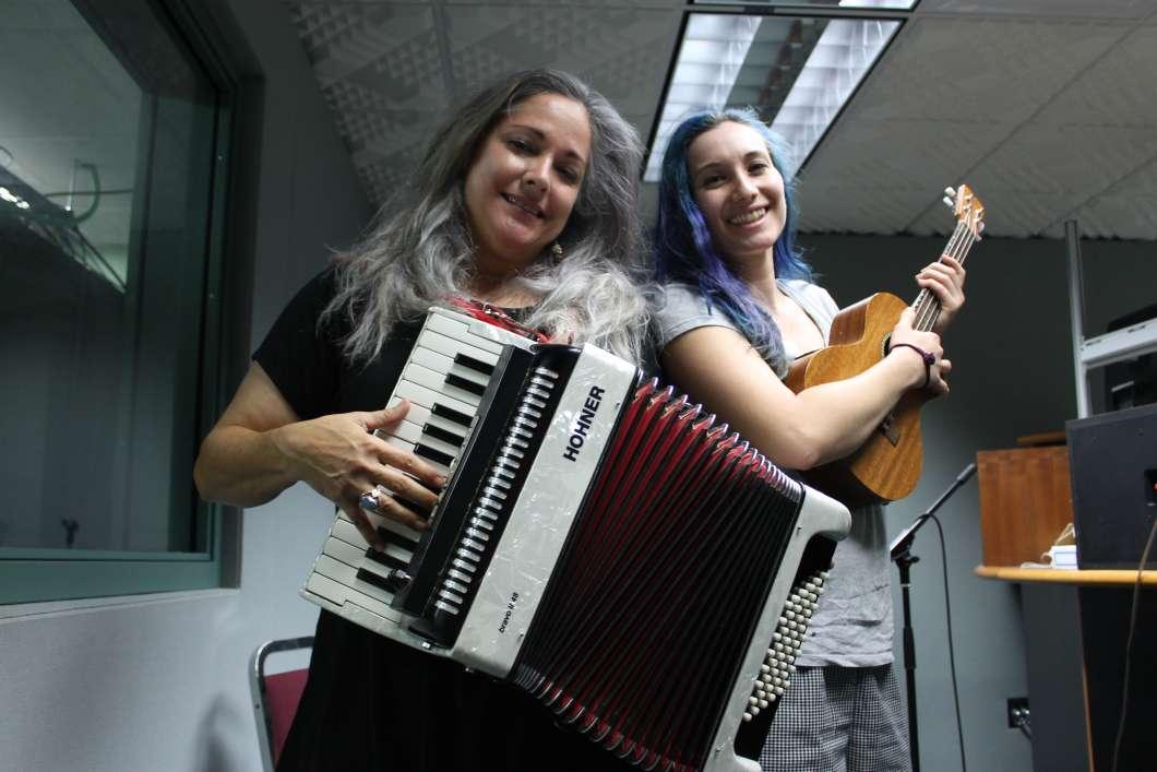 Beth McKee & Renee Arozqueta. Photo: Matthew Peddie, WMFE