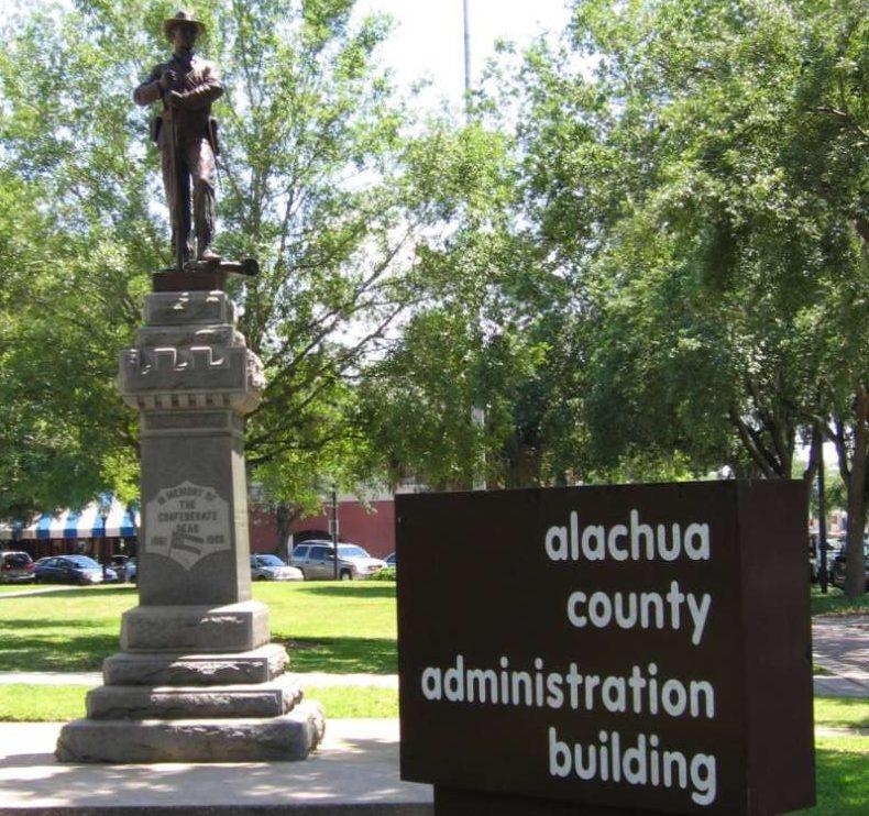 Alachua County Confederate monument, Gainesville. Photo: Douglas Green, via Wikimedia Commons