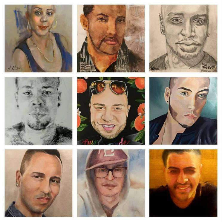 Image: Art from The 49 Portraits Project facebook page