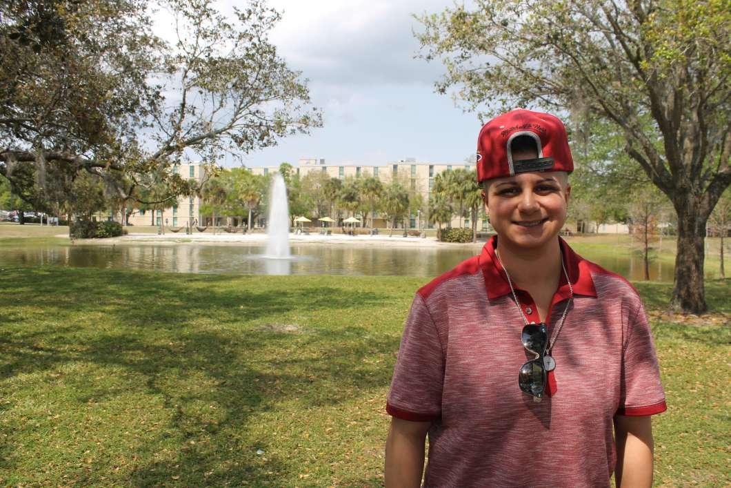 Amanda Grau spent three hours trapped inside the bathroom with Omar Mateen before she came to Orlando Regional Medical Center. (Photo by Abe Aboraya, WMFE)