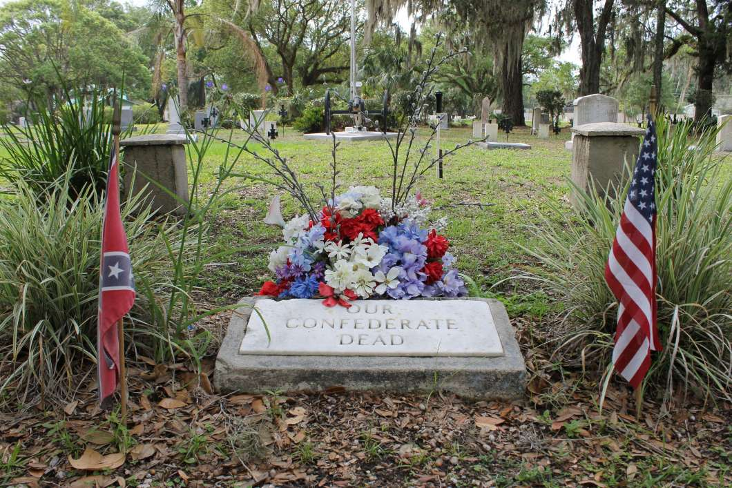 Marker at the confederate section of Orlando's Greenwood Cemetery./Photo: WMFE Matthew Peddie