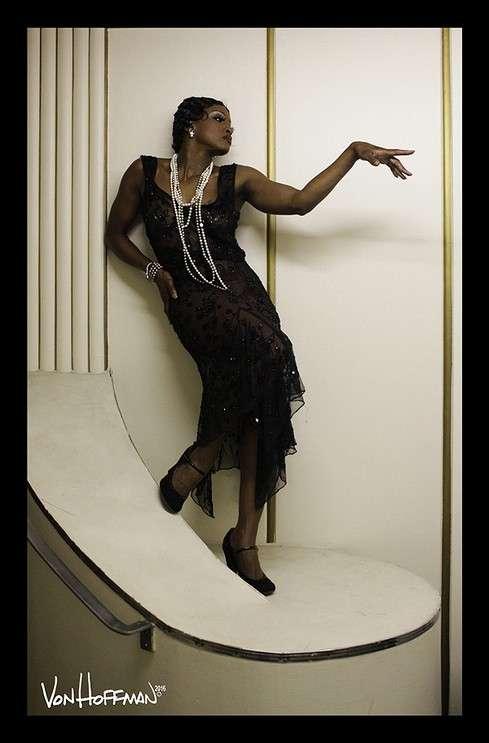 Image: Tymisha Harris as Josephine Baker, Photo by Von Hoffman