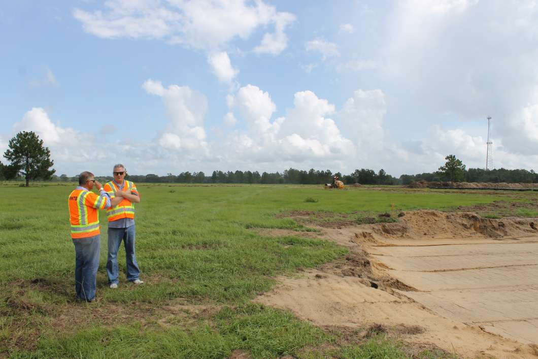 SunTrax is being built on a 400 acre site in Polk County. Photo: Matthew Peddie, WMFE