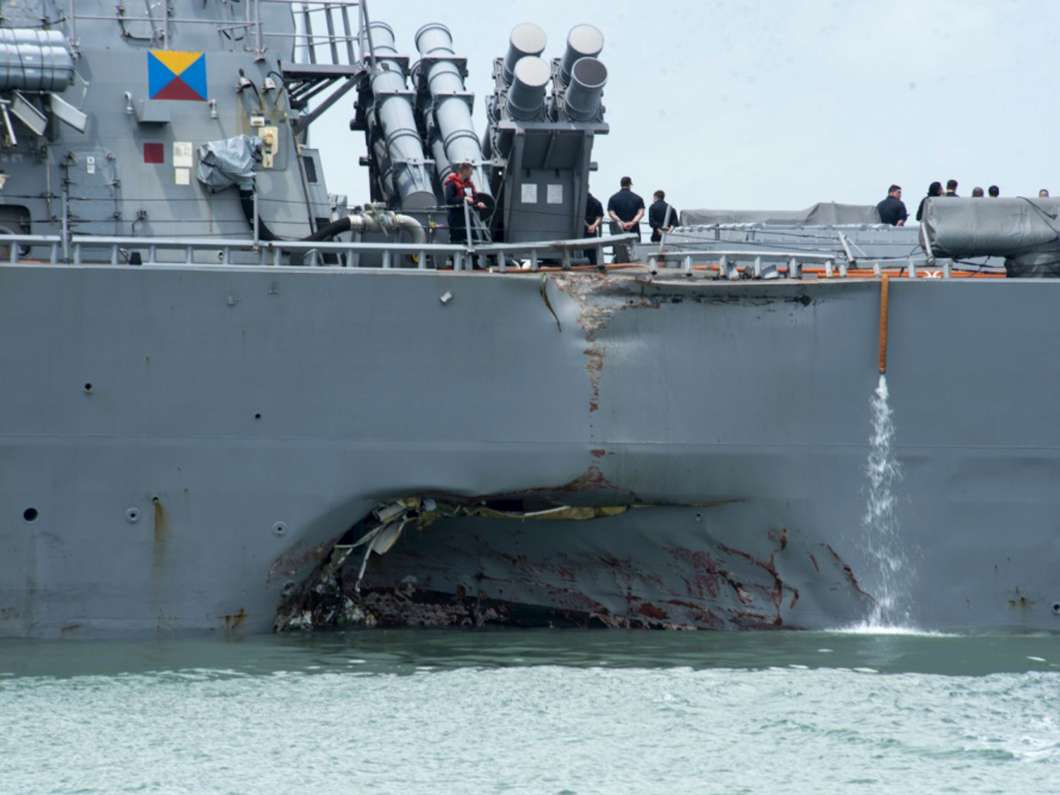 US Navy identifies 1 dead USS John McCain sailor, suspends ocean search