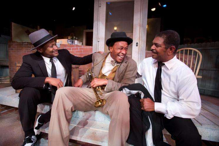 Photo: Damany Riley, Jom Braswell, and Patric Robinson in Fences, madcowtheatre.com