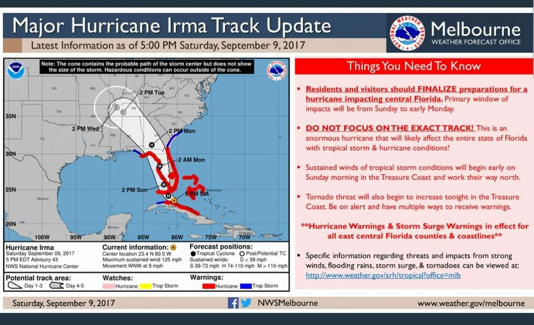 Curfews in place across Central Florida as Hurricane Irma looms