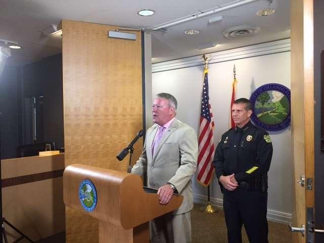 Orlando Mayor Buddy Dyer and Chief John Mina./Photo: Catherine Welch