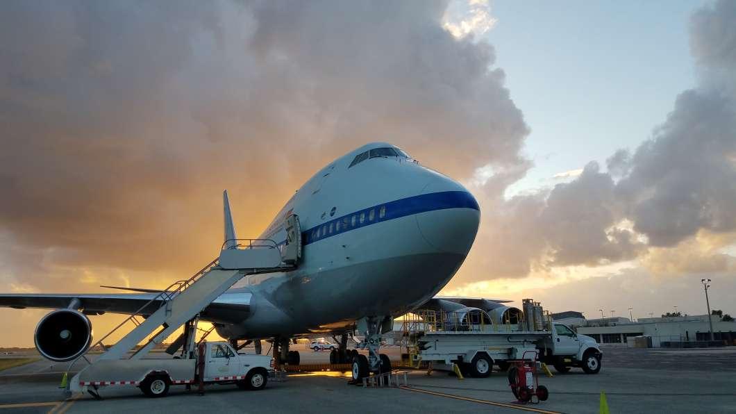 NASA's SOFIA observatory at Daytona International Airport. Photo: Brendan Byrne