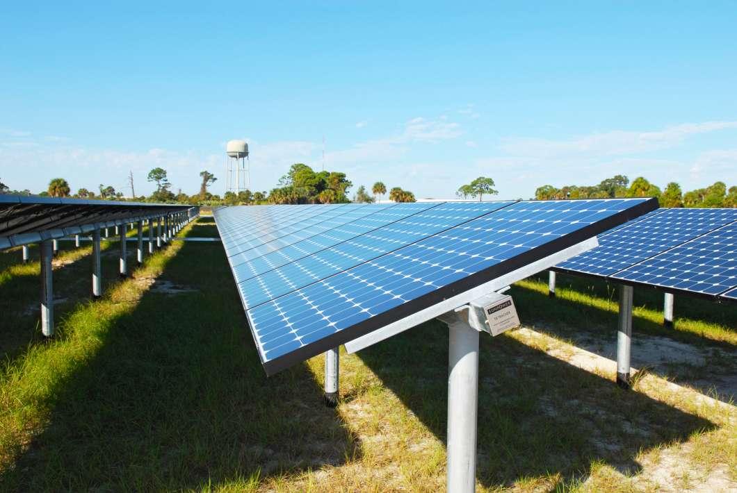 Solar panels at Kennedy Space Center. Photo: NASA