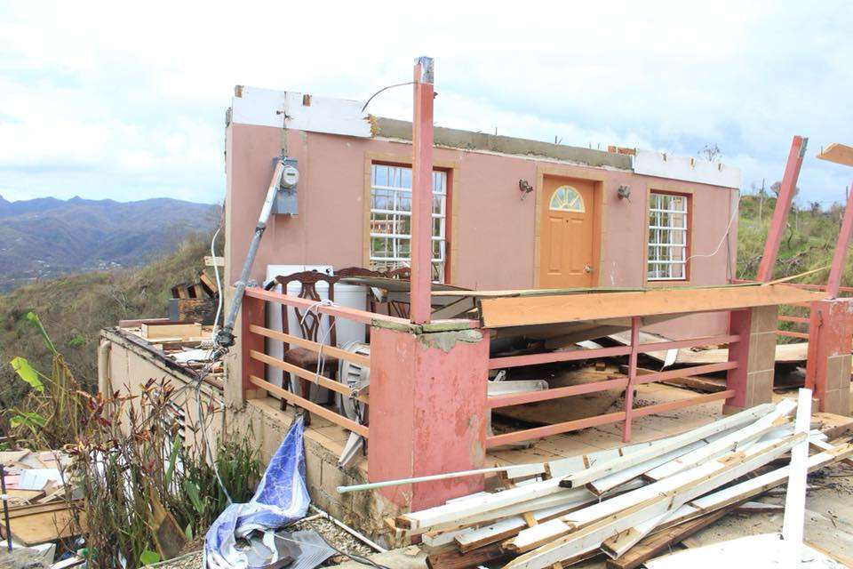 Destroyed home in Puerto Rico. Photo by Representative Amy Mercado