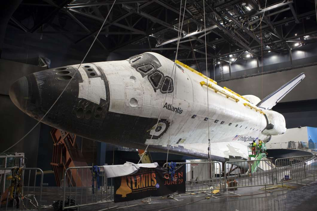 The Atlantis space shuttle that was hand sewed by the sew-sisters. Photo: nasa.gov.