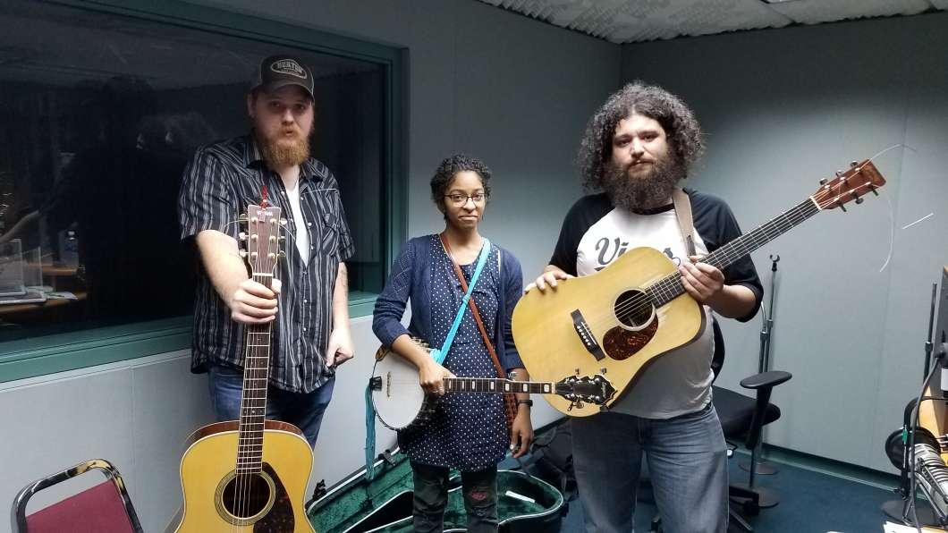 Chris Blevins, Patty Kanoly and Caleb McGee. Photo: WMFE