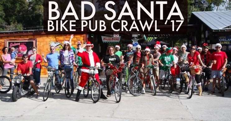 Image: Bad Santa Bike Pub Crawl FB Page