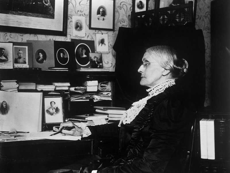 For 45 years, Susan B. Anthony traveled the U.S. relentlessly, stumping for women's rights. She endured ridicule, was hanged in effigy and faced many horrid meals on the road. Nevertheless, she persisted. Corbis via Getty Images