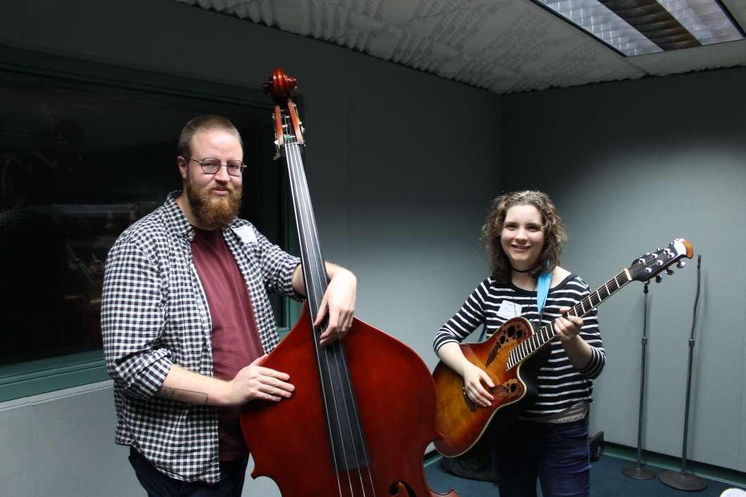 Colin Bottomley (l) and Gayle. Photo: Matthew Peddie, WMFE