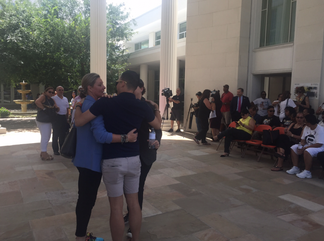 Survivors and families and friends of victims of the Pulse shooting were in attendance. Photo: Catherine Welch