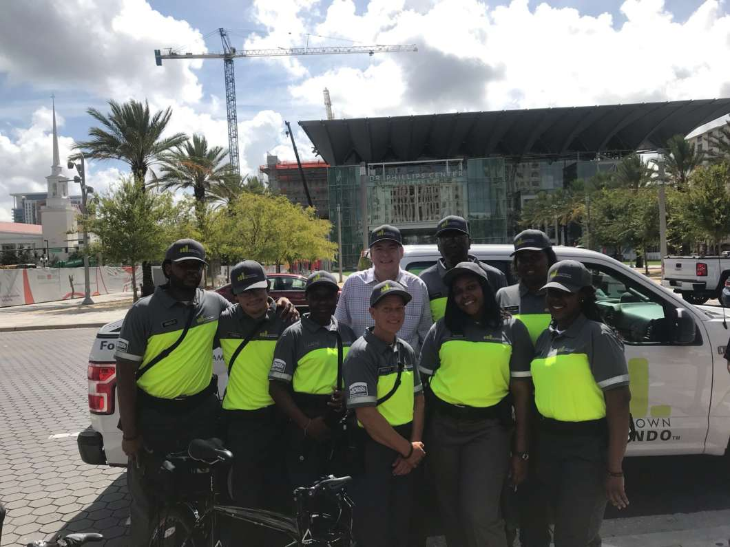 The Downtown Ambassadors started work Wednesday, Aug. 1. The 17 Ambassadors will assist visitors and police. Photo courtesy of The City of Orlando on Twitter.