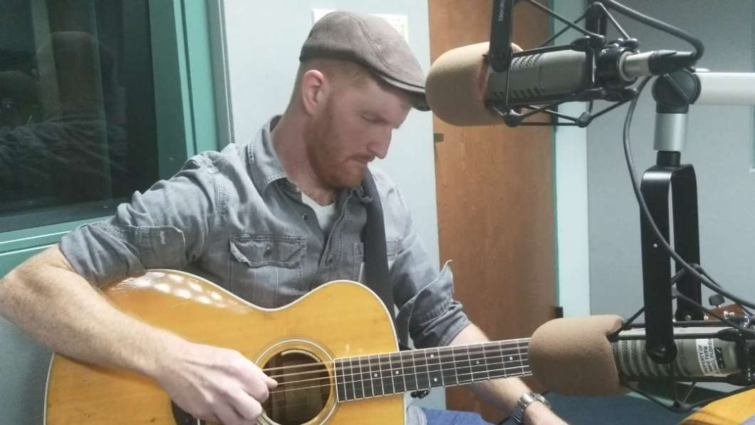 Casey Brents at WMFE. Photo by Crystal Chavez.