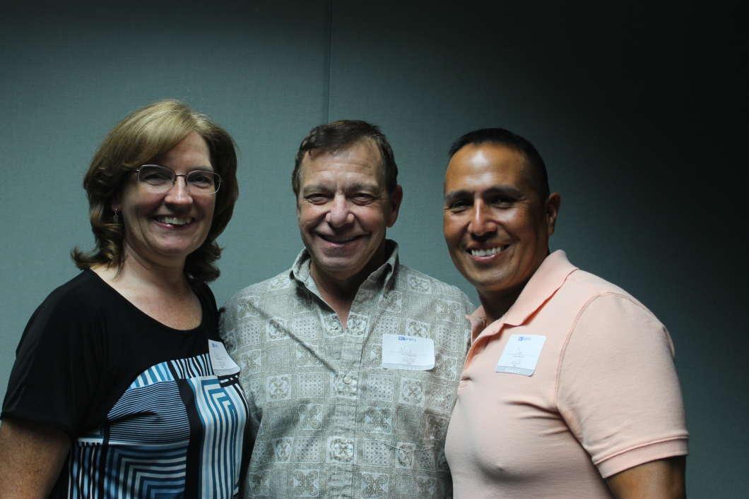Peggy Bargmann, Nick Pettine and Daniel Loza. Photo: Matthew Peddie, WMFE.